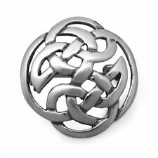 Sterling Silver Celtic Round Brooch Pin