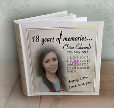 Personalised large luxury photo album, photo book,18th birthday gift present.