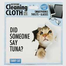 Tabby Cat Microfibre Cleaning Cloth Tablet Phone Glasses Cat Lovers Gift