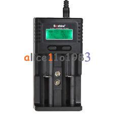 Soshine H2 LCD Display Wall /Car Battery Charger for 18650 26650 Li-ion Battery