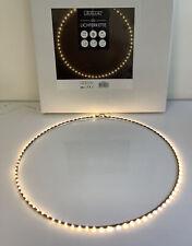 LED Ring Lumière schwarz, 50x50 cm Lichterkette Fensterdeko Licht Reifen R9/5