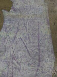 """Italian Cowhide leather skin Cow hide Lavender Tie Dye 30"""" x 70"""", 2.5 oz. 1mm."""