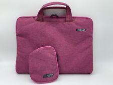 Brinch Laptop Bag With Accessory Bag Fuschia