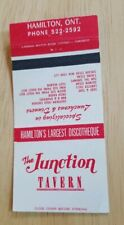 Vintage Matchbook The Junction Tavern Hamilton Ontario Discotheque Disco Canada