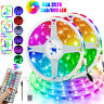 32FT Flexible 3528 RGB LED SMD Strip Light Remote Fairy Lights Room TV Party US