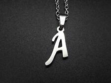 De 1 A 15 Colgante Acero Inoxidable LETRAS CON CADENA personalizado collar letra