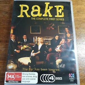 Rake The Complete First Series Season 1 DVD R4 Like New! FREE POST
