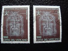 VATICAN - timbre yvert et tellier n° 1106 x2 obl (A28) stamp (I)