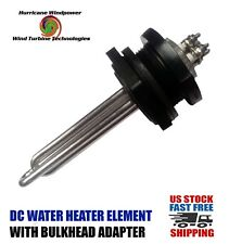 DC Water Heater Element 24 Volt 600 Watt w/Bulkhead Adapter Solar Water Heating