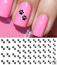 Paw Prints Nail Art Waterslide Decals - Salon Quality! Great for Dog & Cat Lover