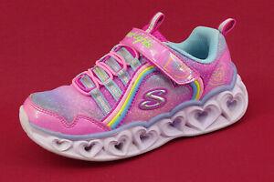 Skechers Schuhe Mädchen Kinder Sneakers Halbschuhe Klettschuhe mit Licht Gr. 29