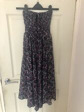 Hippie Boho Strapless Midi Summer Dress Size 8-12 With FREE GIFT BOX OF INCENSE!