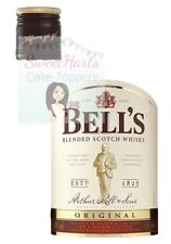 BELLS WHISKEY BOTTLE LABEL SET EDIBLE ICING CAKE TOPPER DECORATION