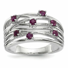 14k White Gold Ruby Ring Size 7