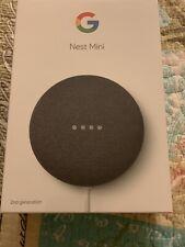 Brand New Google Nest Mini (2nd Generation) Smart Speaker - Charcoal