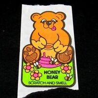 Vintage 80s Scratch & Sniff Stickers Mello Smello HONEY BEAR Single New