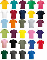 5 Pack Men's Fruit of the Loom 100% Cotton Plain Blank Tee Shirt Casual T-Shirt