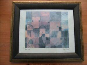"""Paul Klee """"Rote Weisse"""" Framed Print 32 x 27cm"""
