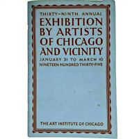 1935 39th Annual Exhibition by Artists of Chicago Art Institute Souvenir Book 1J