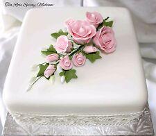 SPRAY ROSA TEA ROSE, fiori di zucchero, cake topper, Gum pasta, pasta di zucchero, Medio