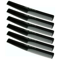 Professional Barber Cutting Comb by Battalia #401 - 6 Pack