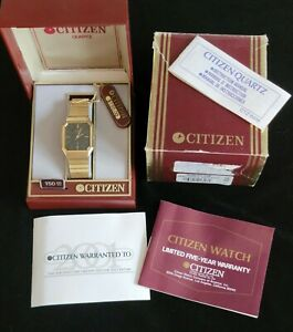 Vintage Men's Gold Plated Dress Watch 6031 New Battery Original Box/Papers