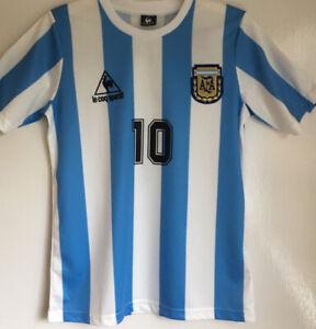 Argentina Mexico 1986 #10 Maradona VINTAGE RETRO SOCCER FOOTBALL SHIRT JERSEY~