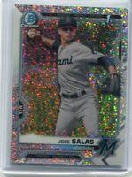 JOSE SALAS 2021 Bowman Chrome Non-Auto SPECKLE REFRACTOR RC /299 Marlins CPA-JS