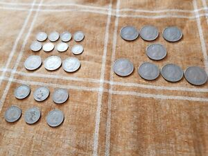 Job Lot of 25 British Coins Florins Half Crowns Shillings Sixpences 208gms
