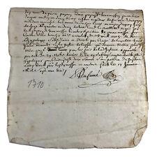 1770 Europe Document Government Legal Paper Record Authentic Manuscript Antique