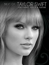 Best of Taylor Swift for Piano, Voice & Guitar, Very Good Condition Book, Taylor