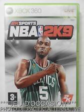 OCCASION: Jeu NBA 2K9 xbox 360 microsoft game francais 2009 sport basket COMPLET