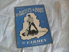 BROCHURE ROLAND PETIT'S LES BALLETS DE PARIS CARMEN AND OTHER BALLETS JEANMAIRE