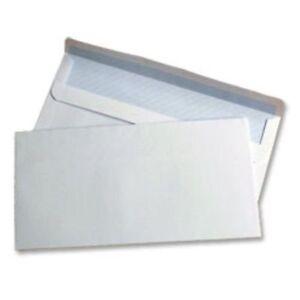 DL Plain White Self Seal Envelopes x 5 10 50 20 50 100 200 500 1000 110x220mm A4