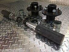 """TRAILER AXLE KIT - 3.5K, 3500 lb, Idler, 5 on 4.5"""", 2"""" ROUND Spindles Build Axle"""