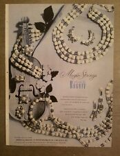 1955 BOGOFF magic strings necklace violin earrings jewelry ad