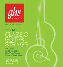 GHS 2150W Classical Guitar Strings silver alloy tie end hard tension
