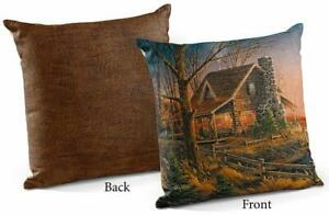 """Comforts of Home 18"""" Decorative Pillow by Terry Redlin"""