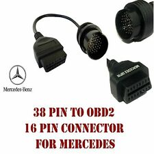 Mercedes Benz 38Pin To 16Pin OBD2 Adapter Connector Diagnostic Cable