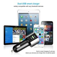 Bluetooth Dual Ports 3.4A USB Car Charger Auto Lighter MP3 Player FM Transmitter