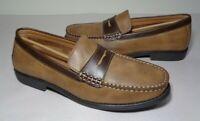 IZOD Size 8.5 M EDMUND 2 Dark Tan Dark Brown Penny Loafers New Men's Shoes