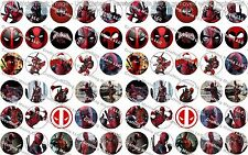 "60 Precut 1"" DEADPOOL Bottle cap Images Set 1"