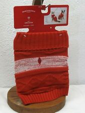 New listing Red Pet Sweater Size Xs Dog Cat Target Wondershop New up to 10 lbs 8 in neck 6-9