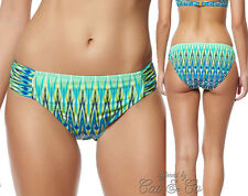 10 Bleu Rod Beattie Heatwave Ikat Ruched Side Tab Hipster Bikini Swim Bottom NWT