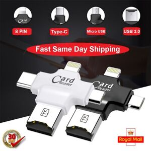 4 In 1 USB OTG USB 3.0 Adapter Micro SD Card Reader For Android Type-C iPhone