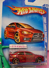 vhtf 2009 i Hot Wheels FTE 2008 LANCER EVOLUTION #127☆Red evo☆Faster Than ever