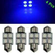 4 X Blue 31mm 5050 LED 4 SMD Festoon Dome Car Bulb 3021 3022 DE3175 Light Lamp