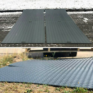 4 Stück Fahrplatten je max. 10 Tonnen Druckplatten LDPE Baggerplatte Baustelle