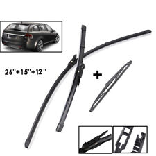 Front Rear Windscreen Wiper Blades Kit For Holden Commodore VE SV6 Sportwagon