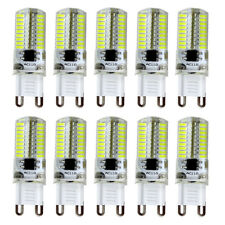 10pcs G9 Dimmable Light Bulb 72 4014 SMD LED Silicone Crystal Lamp 6500K/110V